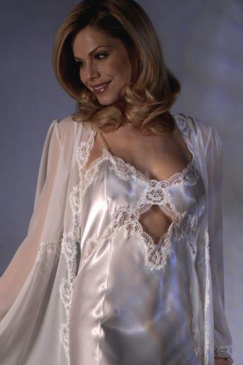 Luxurious satin lingerie