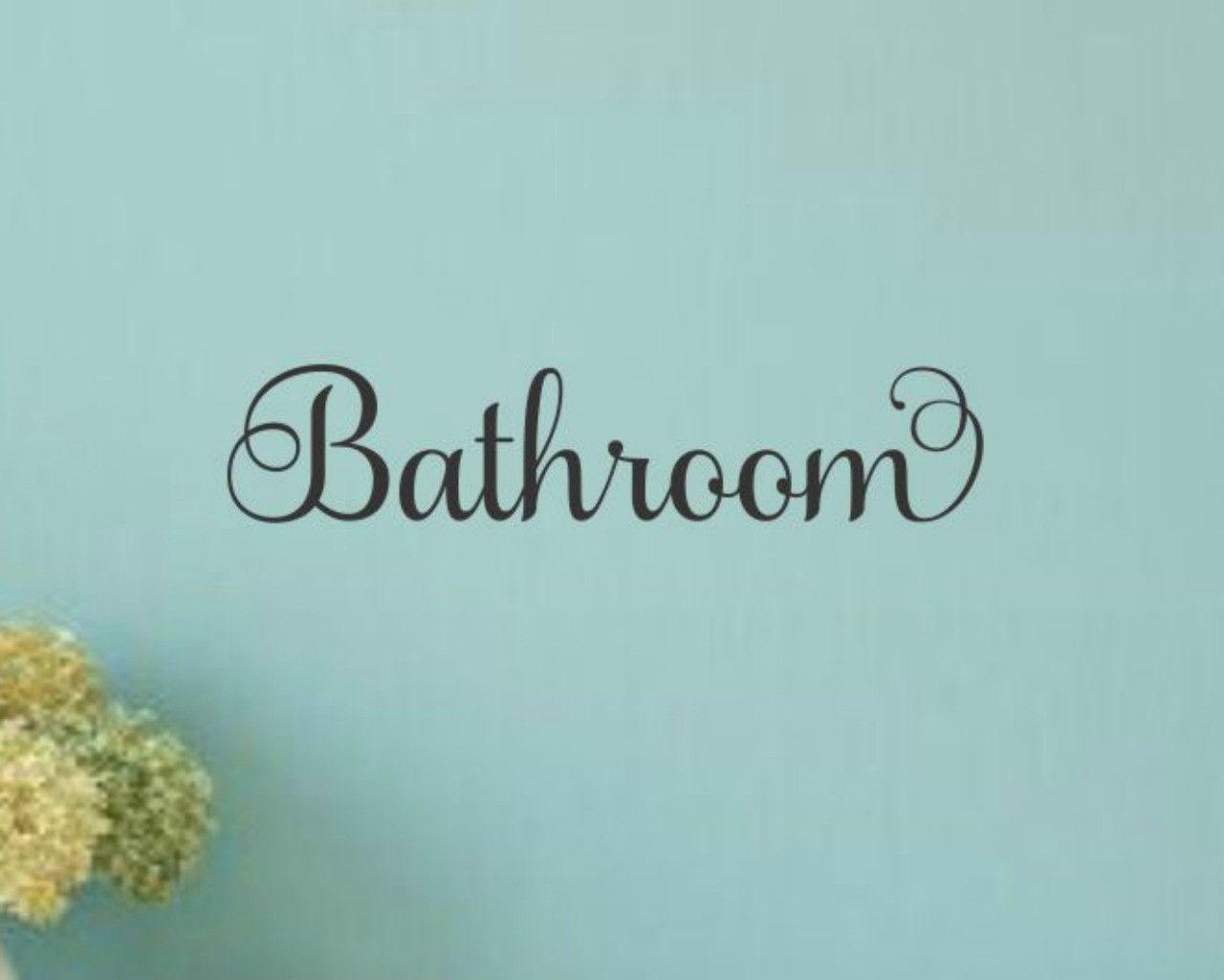 Bathroom door decal products