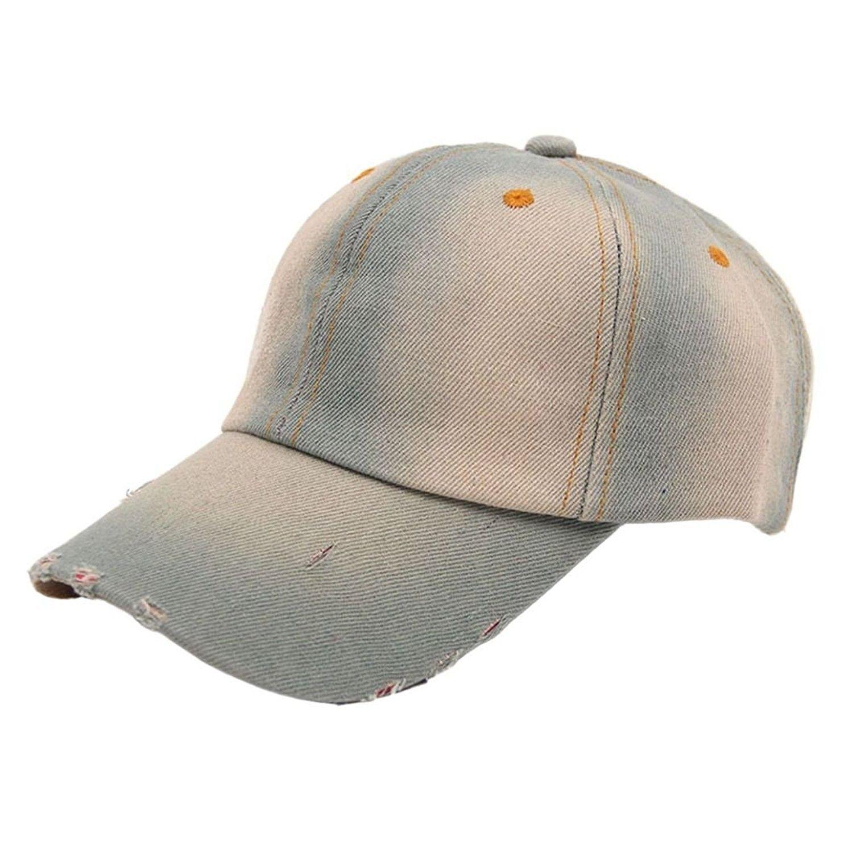 a9af05f8d3f DZT1968(TM)Leisure Men s Women s Jean Sport Denim Baseball Cap Sun Hat (C)  - C411YK1WOGP - Hats   Caps