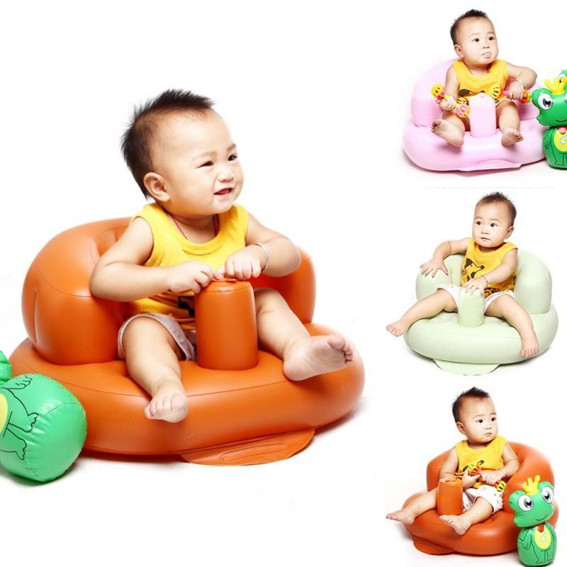 Small Inflatable Sofa Portable Baby Chair Baby Learn Seat Inflatable ...