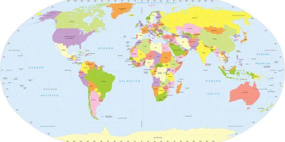 Mapa Mundi Adesivo Grande Formato Em Papel De Parede En