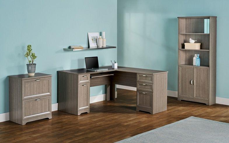 Realspace Magellan 59 W L Shaped Desk Gray Item 822239 Grey