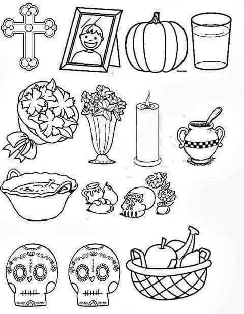 Pin De Noemi En Kinder Altar De Muertos Dibujo Actividades Dia De Muertos Decoracion Dia De Muertos