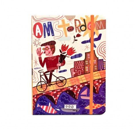 Cuaderno de viaje cosido mediano Amsterdam  Por: Nate Williams