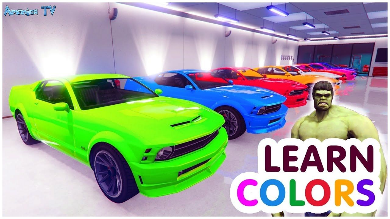Learn Colors For Children With Small Cars Car Cartoon Learn For