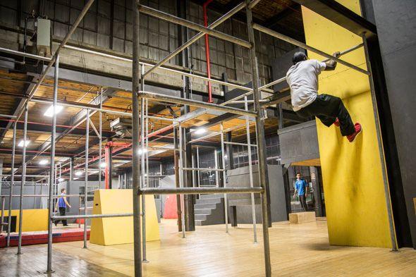 Monkey vault toronto parkour gym nice pipes indoor