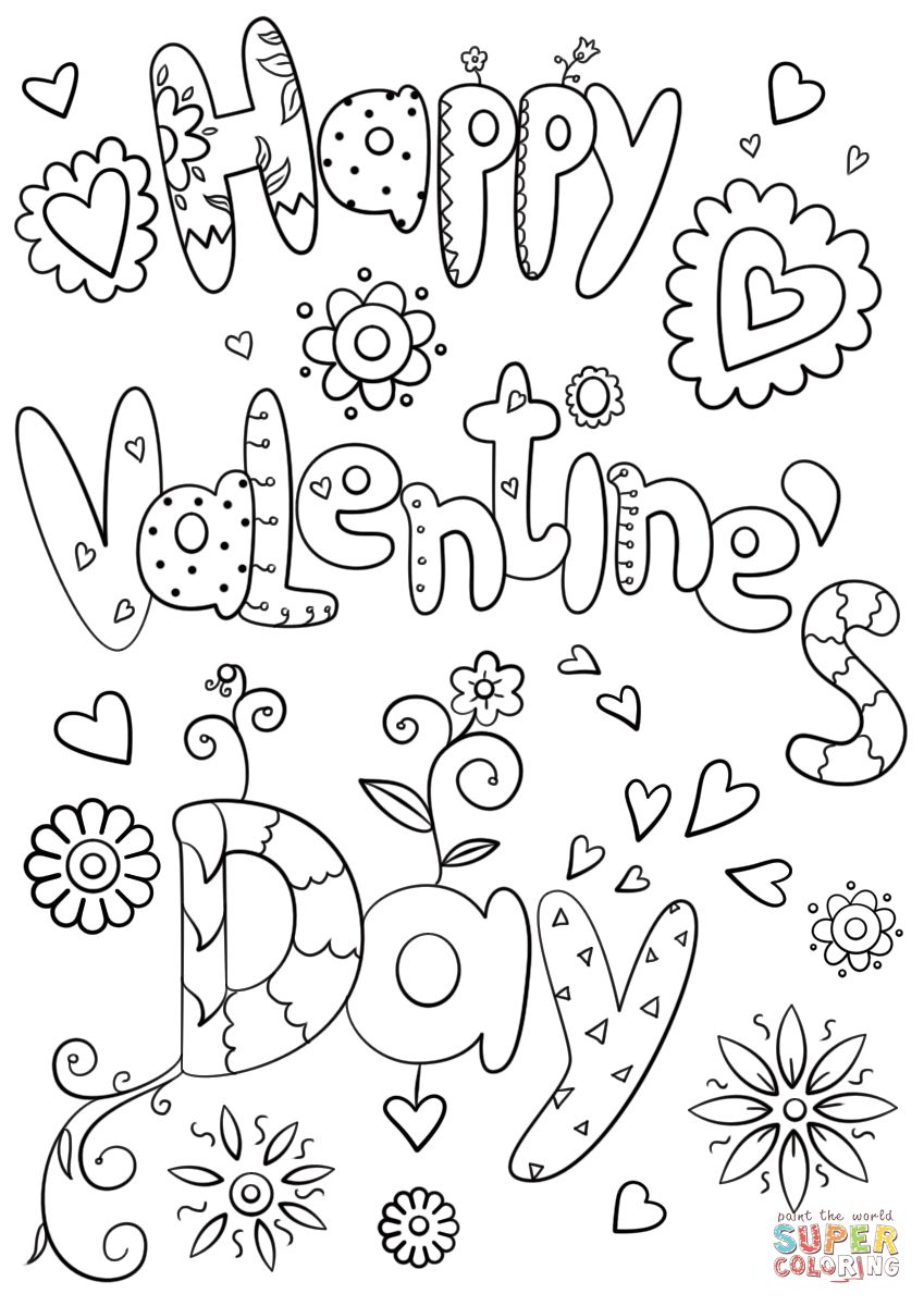 Coloring Pages Valentines Day 50 Valentine Day Coloring Pages For