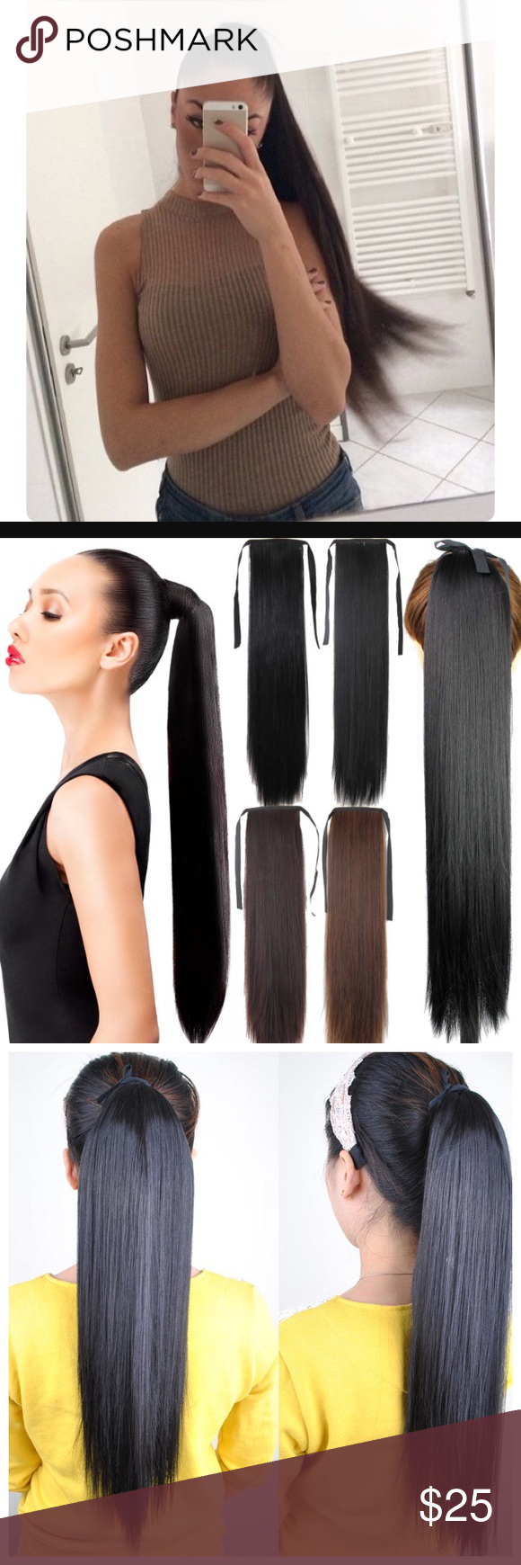 Long Ponytail Hair Extensions Nwt Ponytail Hair Extensions