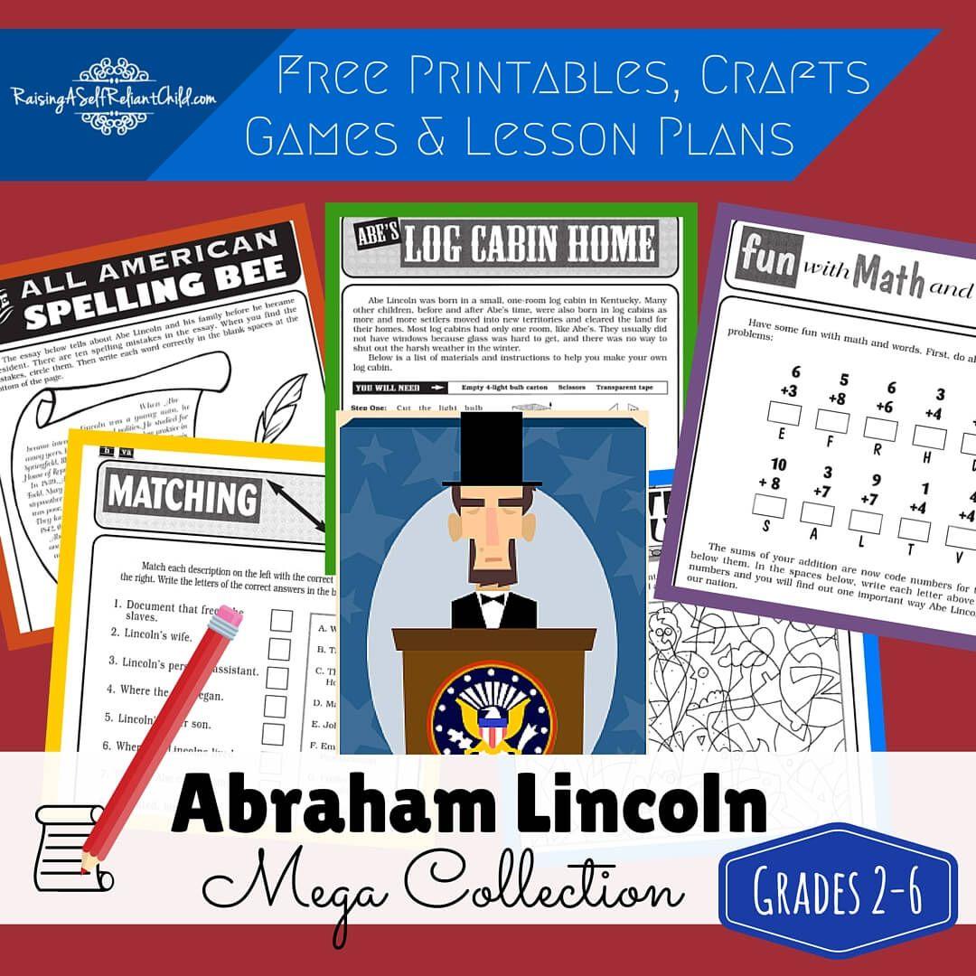 Free Printables Abraham Lincoln Homeschool History Lesson