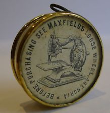 Ooo! More industrial Revolution sewing lust. An advertizing tape measure.
