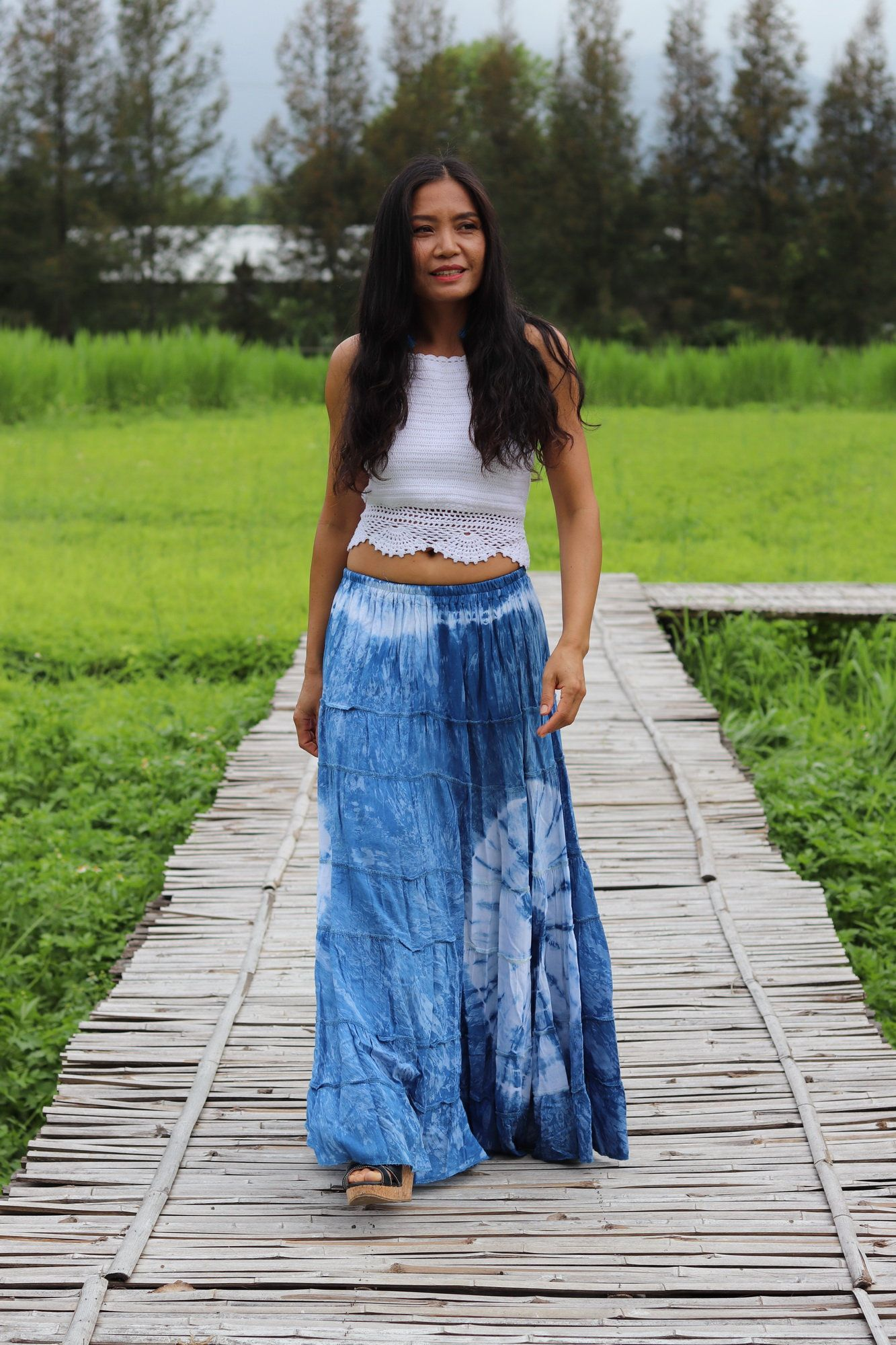 Bandhani Cotton Tie Dye Skirt Boho Skirt  Maxi Skirt  Maxi Boho Skirt Modest Skirt  Beach Skirt Full Length skirt  Tie Dye Skirt