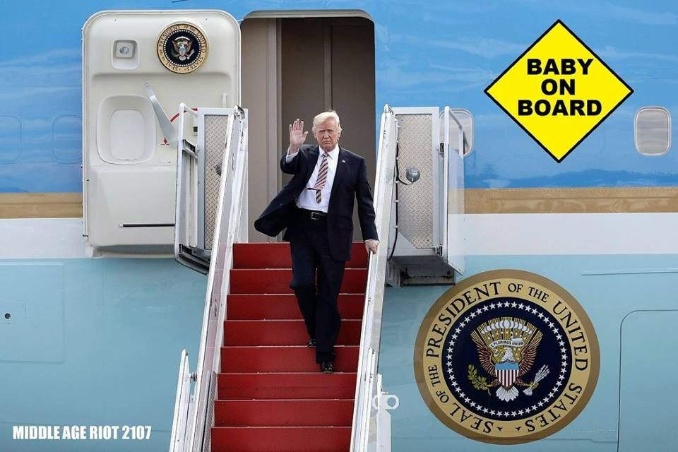 Trump\'s & Air Force One = Baby on Board   Just In Case   Pinterest ...