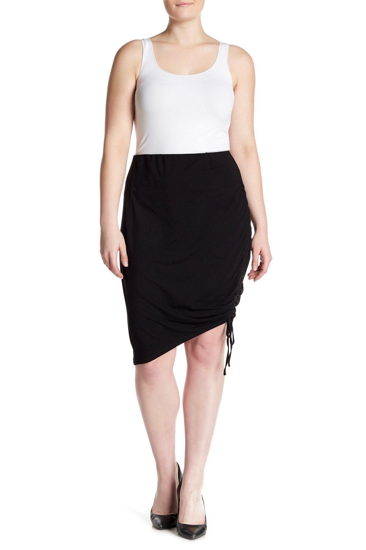 238606928 Ruched Side Jersey Pencil Skirt (Plus Size) by SUSINA on @nordstrom_rack