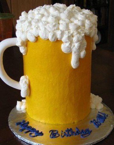 Beer Glass Cake Design : Beer mug cake Cakejoy Pinterest Cake, Decorating and ...
