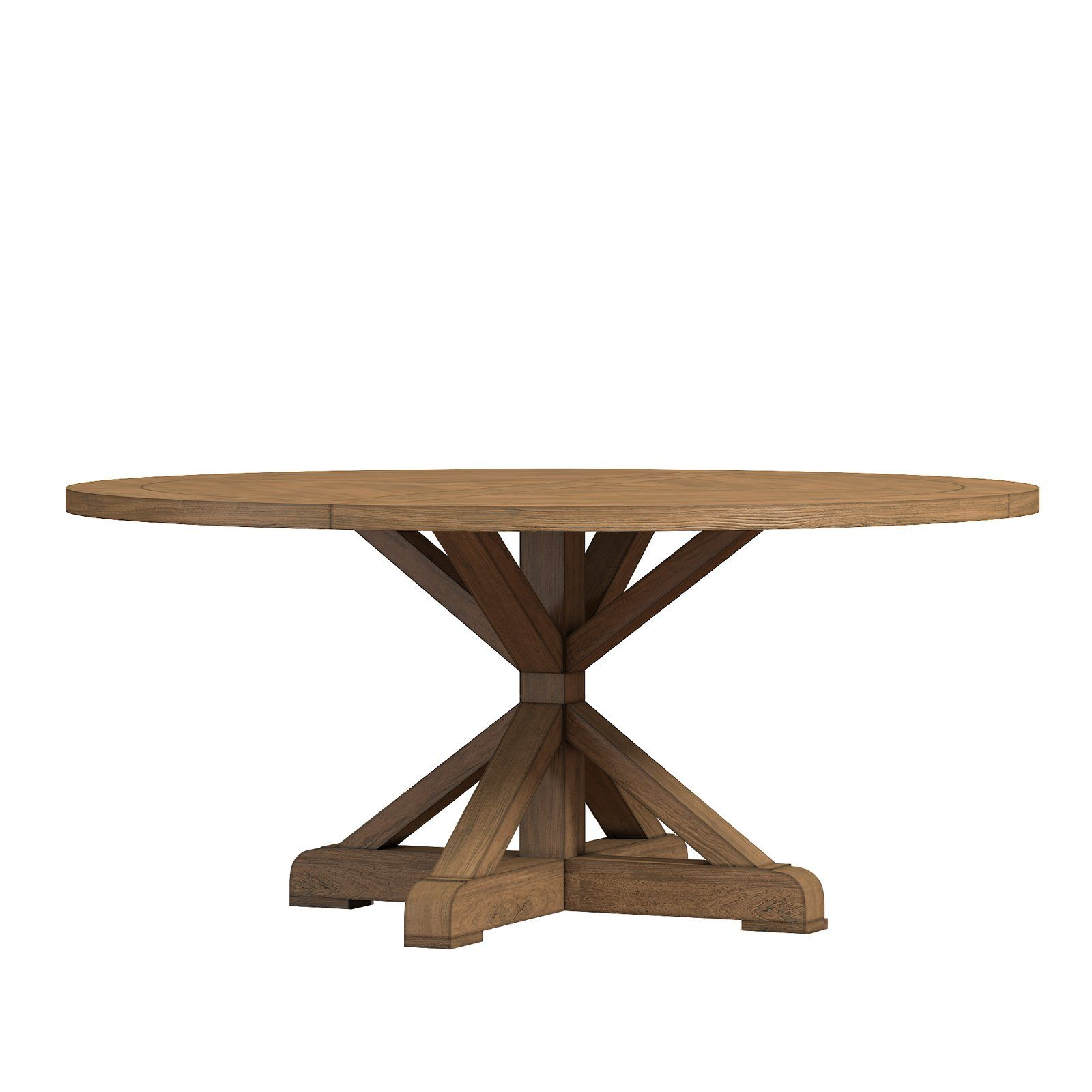 Peralta Round Rustic Dining Table Dining Table Rustic Solid Wood Dining Table Dining Table In Kitchen