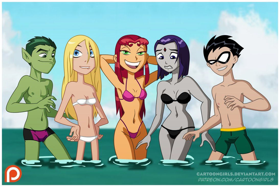 Teen Titans  The Beach By Cartoongirlsdeviantartcom On -3518