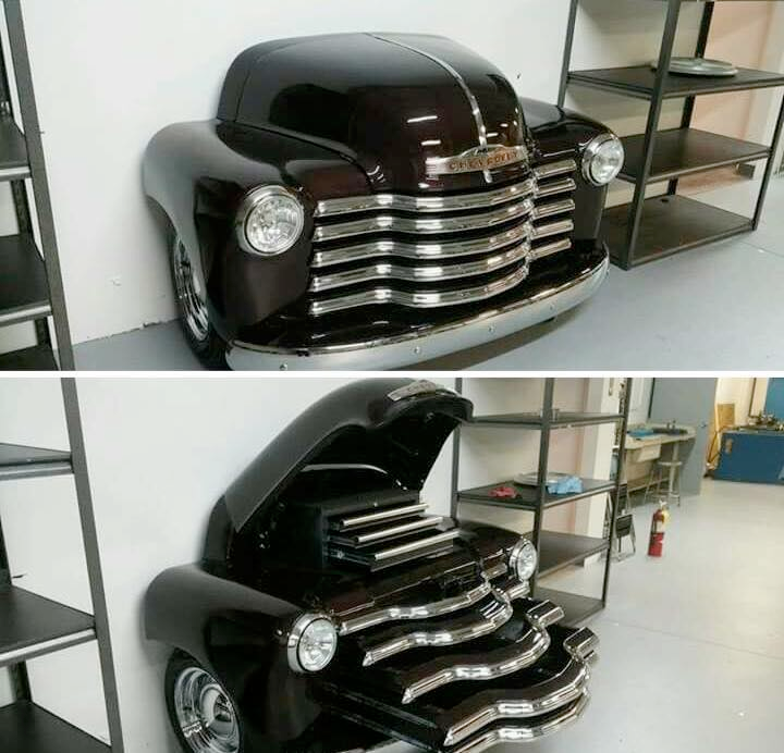 World\'s neatest toolbox made of an old Chevy Advanced Design ...