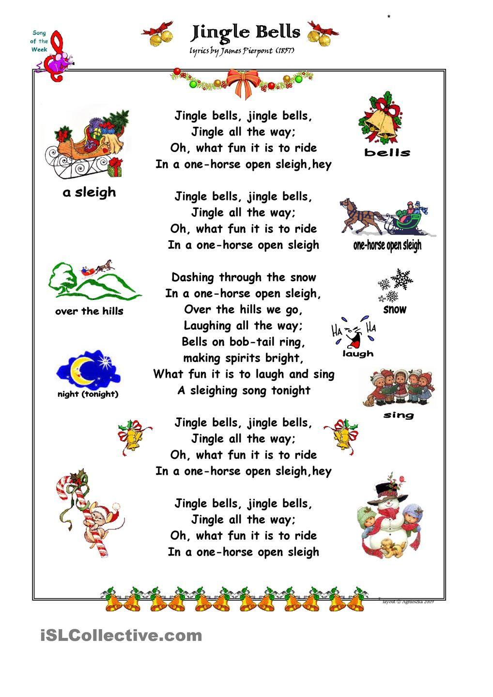 Chanson De Noel Anglais : chanson, anglais, Christmas, Carol, Popular, Songs,, Jingle, Bells,, Songs, Lyrics