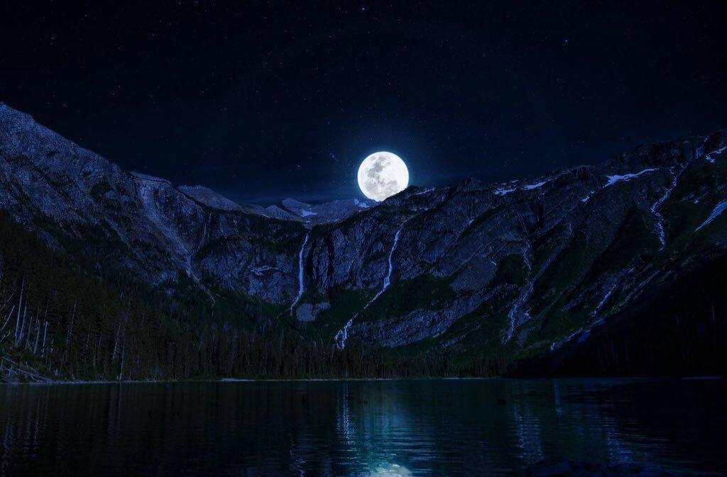 On Twitter Night Landscape Mountain Wallpaper Landscape Wallpaper Full hd wallpapers 1920x1080