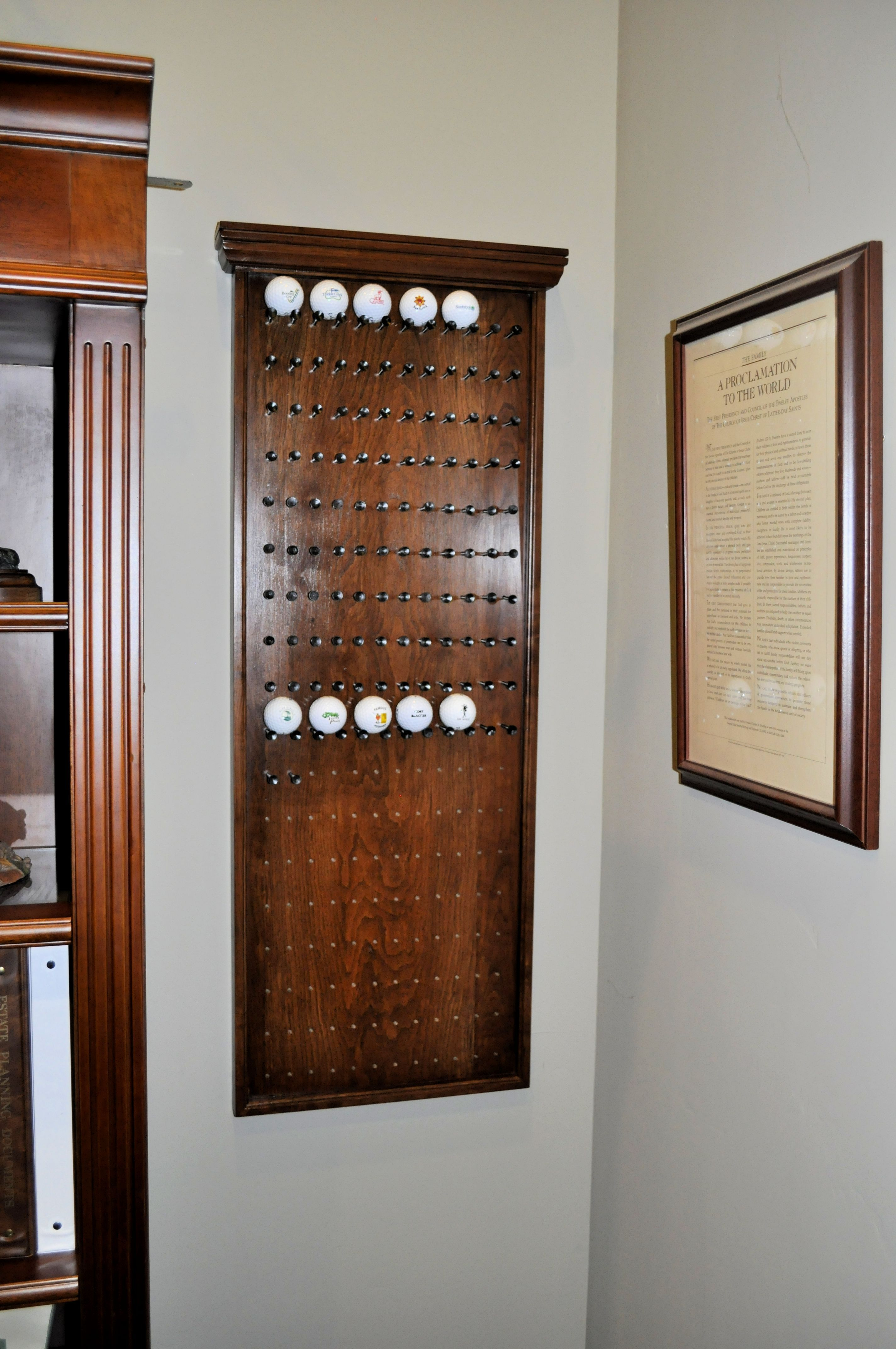 Explore Scroll Bar  Golf Room  and more Golf Ball Rack made from Cherry   Woodworking Projects   Pinterest  . Golf Decorated Rooms. Home Design Ideas