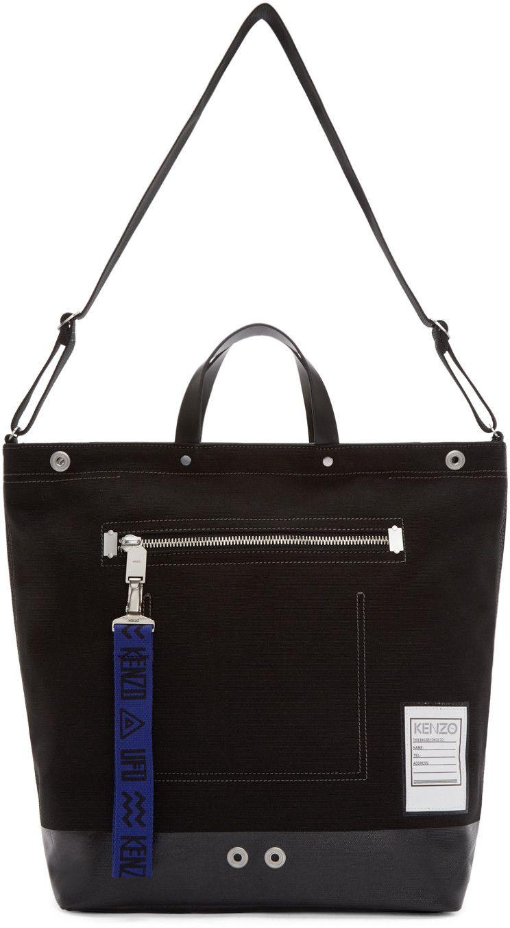 42d69708d44 Kenzo Black Canvas Tote Bag   Bags   Pinterest   Bags, Canvas tote ...