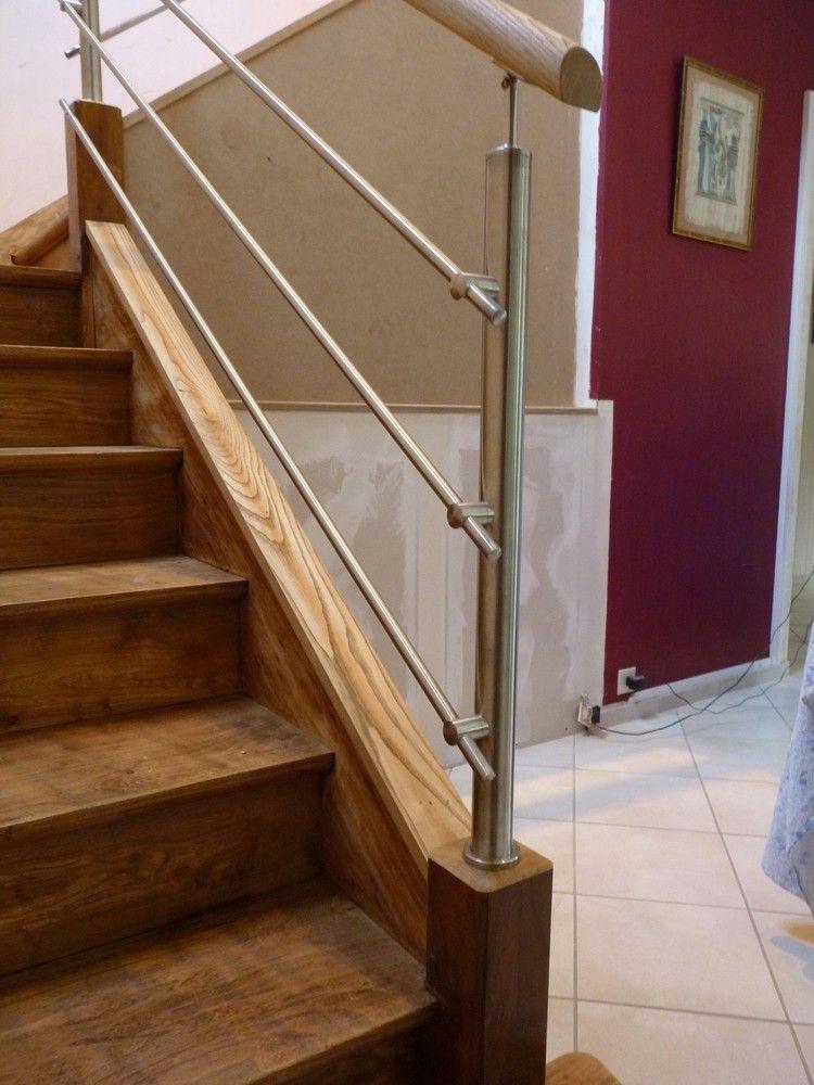 Remplacement rampe bois existante par garde-corps inox par ...
