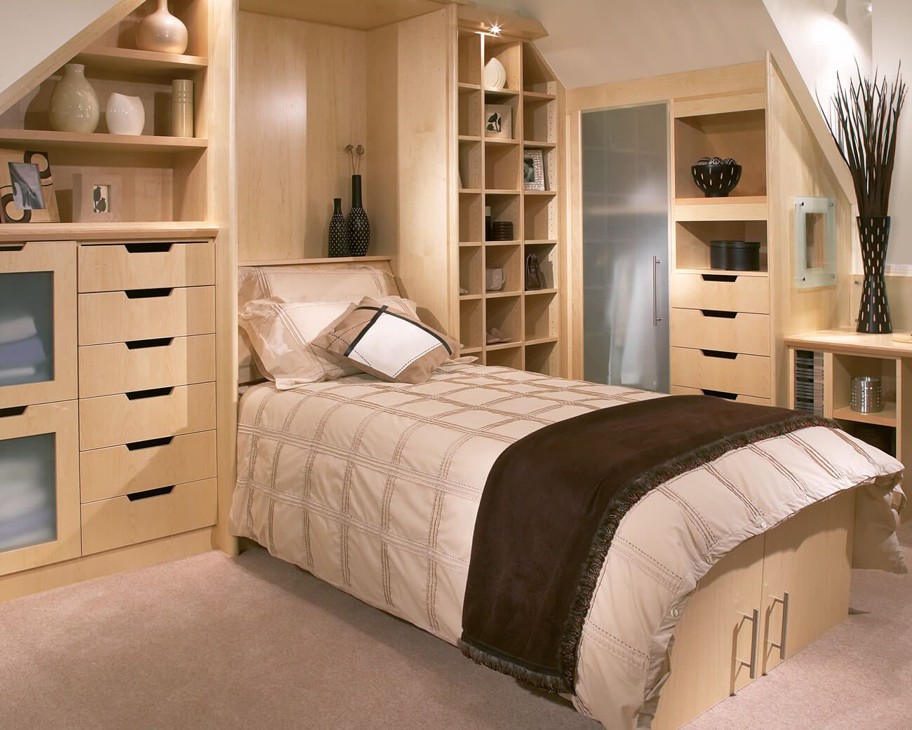 Pull Down Bed with Storage UK Fitted bedroom furniture