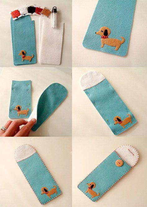 Como-hacer-un-porta-lentes-de-fieltro | costuras | Pinterest ...