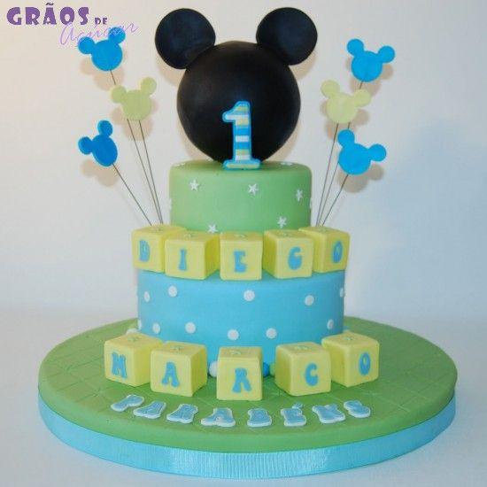 Mickey Baby - Grãos de Açúcar - Bolos decorados - Cake Design   Food ... 2baa203445