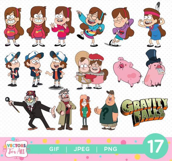 Gravity Falls Cliparts Pack Gravity Falls Gif Png Jpg Files Gravity Falls Cliparts Decoration Stickers Birt Gravity Falls Gravity Falls Dipper Autumn Stickers