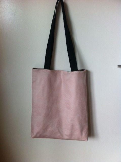 sac tote bag rose poudre shopping pratique : Sacs bandoulière par sheren