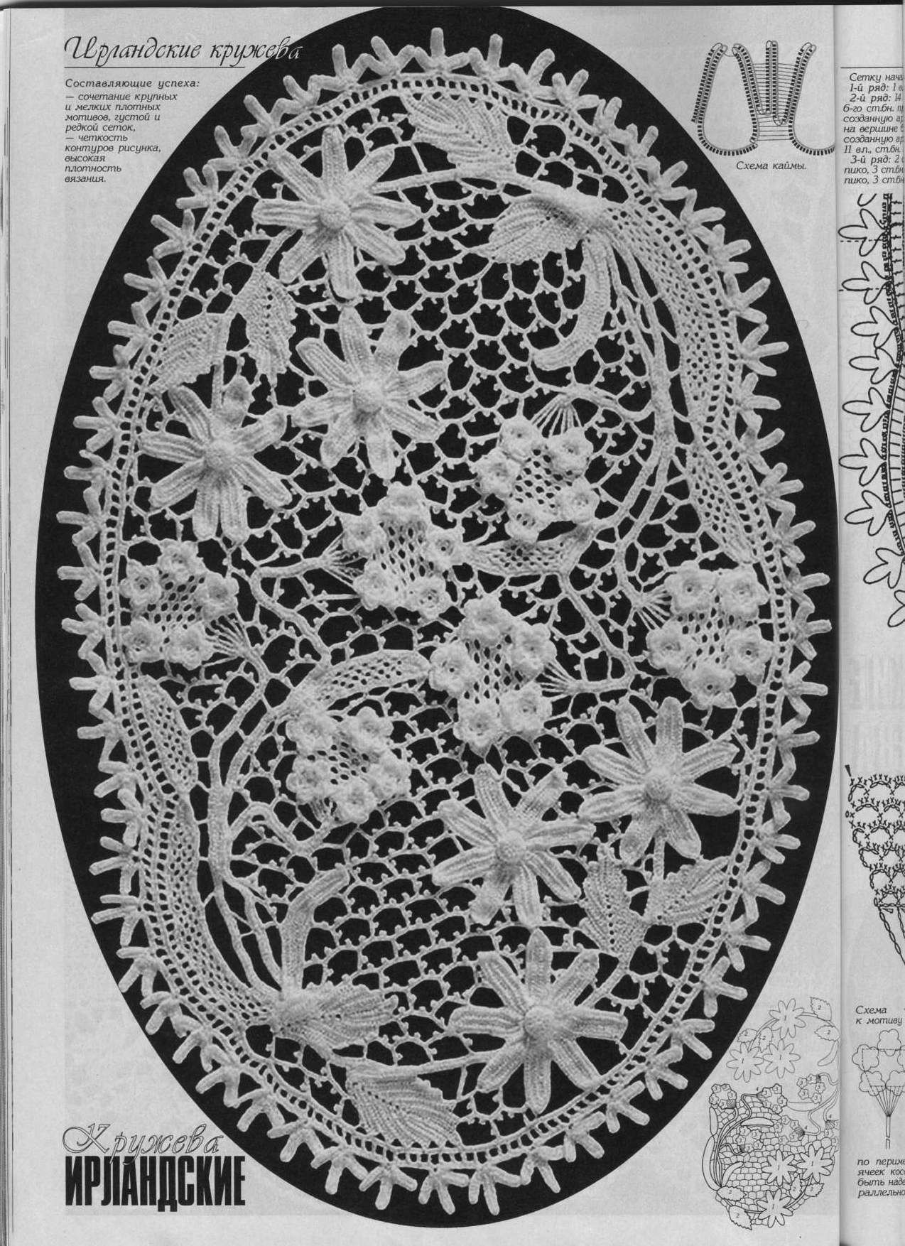 irish crochet motifs | Crochet ~ Irish & Russian ~ elements ...