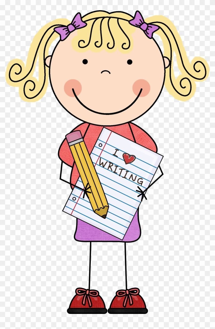 Girl Writing Clipart Reading And Writing Poster Free