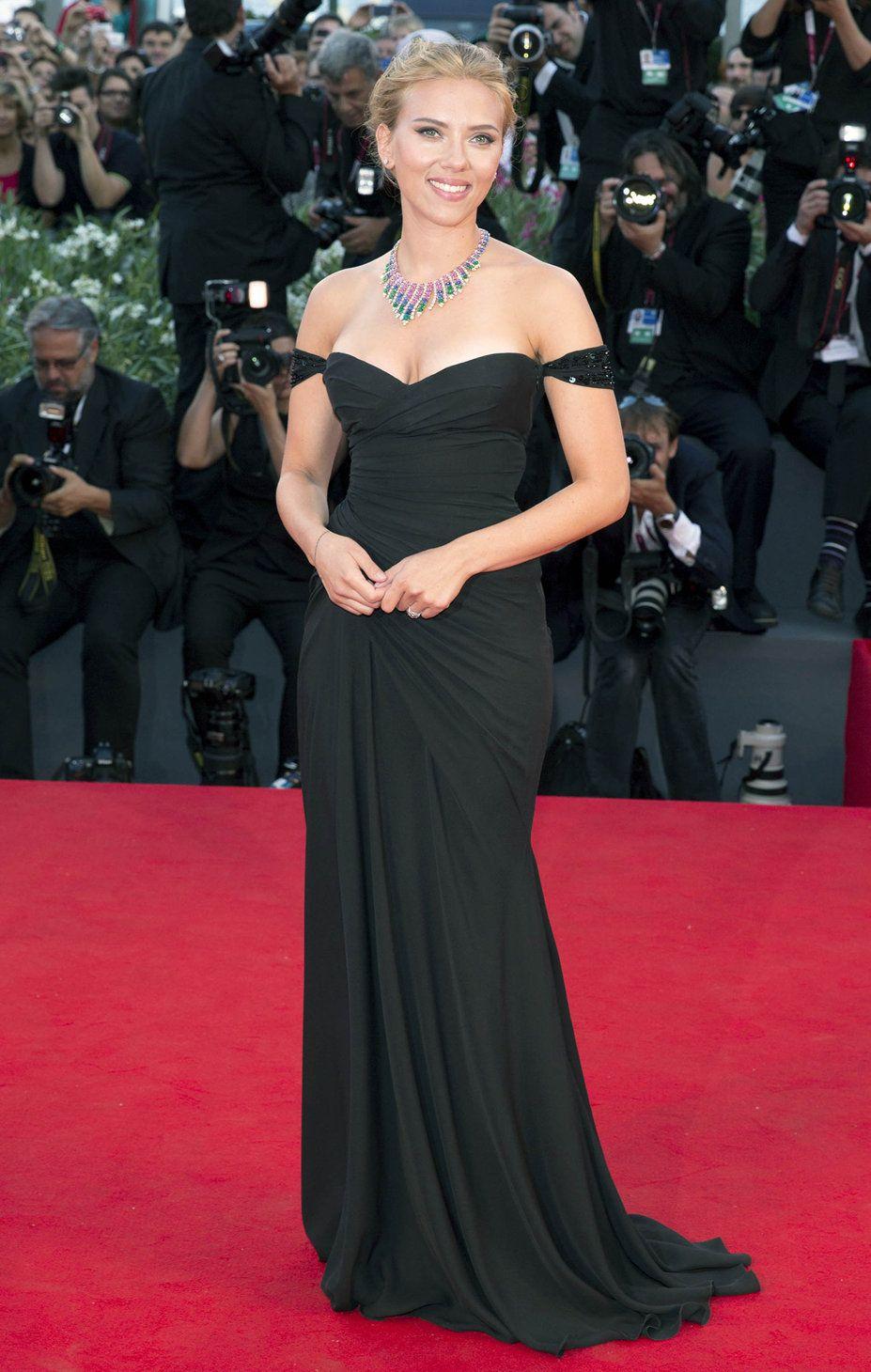 Scarlett Johansson in Versace 2013 Venice Film Festival