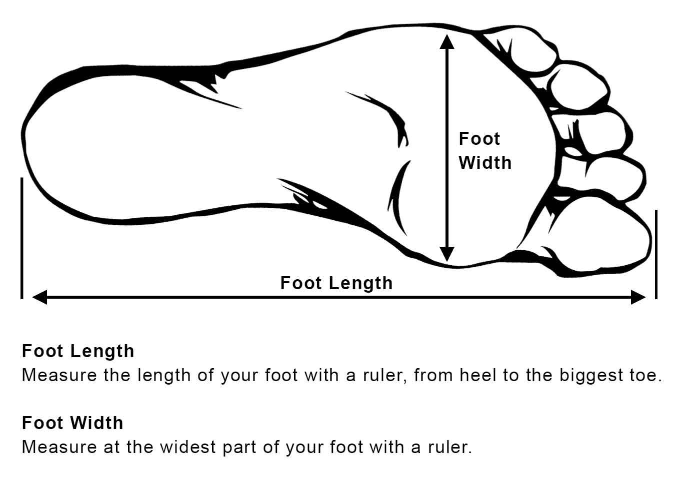 Measure Your Foot Length And Width Brown Leather Boots Black Leather Sandals Shoes Black Leather