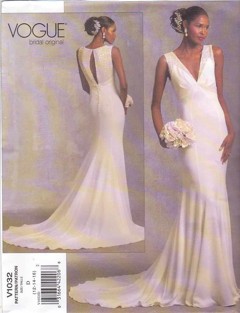Vogue Sewing Pattern 1032 Bridal Original Misses Size 12-14-16 ...