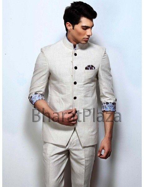 Indian Jodhapuri Suit for Men Boys Grey Designer Achkan Marriage wedding Ethnic Phoshak Traditional Bandhgala Suit Elegant wear jacket