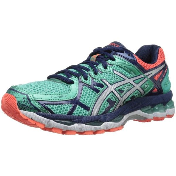asics womens gel kayano 21 running shoe 80  liked on polyvore featuring