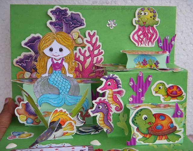 70 Creative Sea Animal Crafts For Kids Ocean Creatures Craftionary Side Step Card Step Cards Animal Crafts For Kids