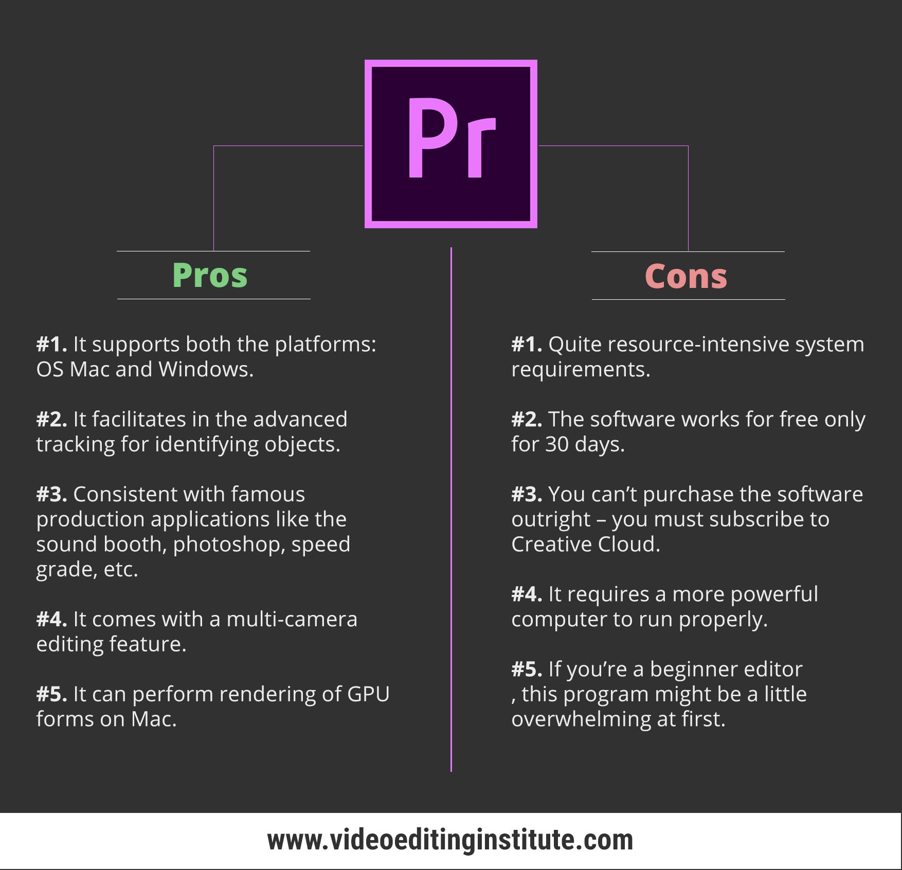 Pros And Cons Of Adobe Premiere Pro Adobe Premiere Pro Premiere Pro Premiere Pro Tutorials
