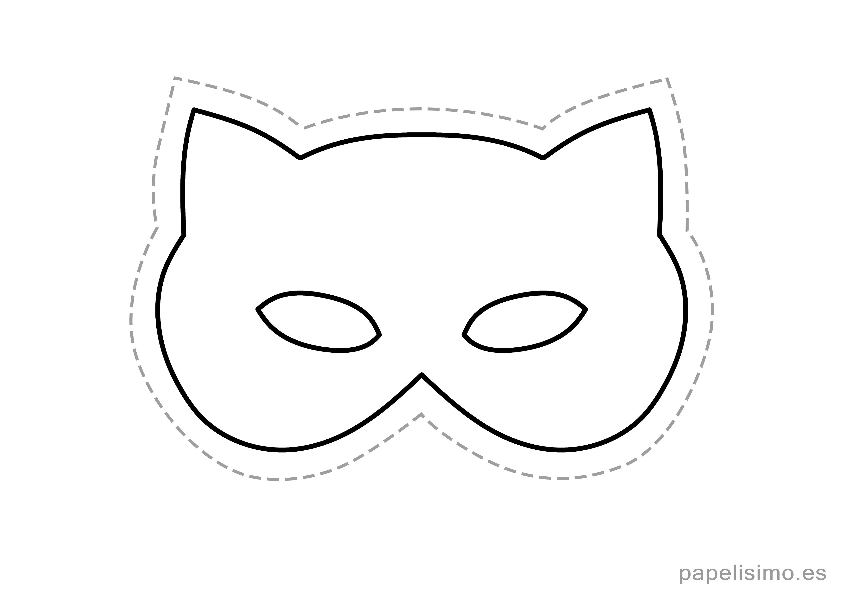 4-máscaras-de-goma-eva-para-recortar-GATO-niños.jpg (3508×2480 ...