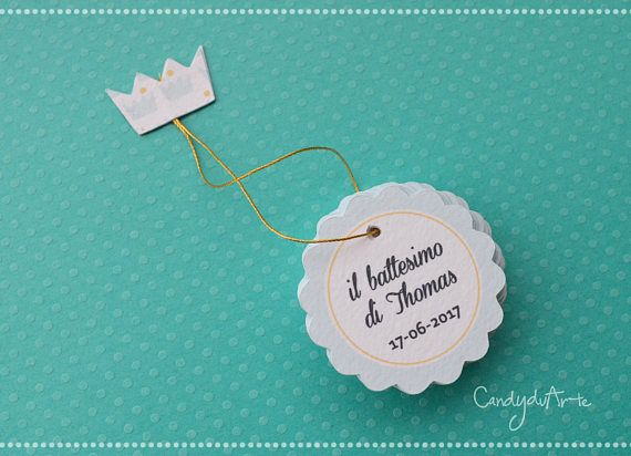 Tags bomboniere  Etichette Piccole  Targhettine  Battesimo