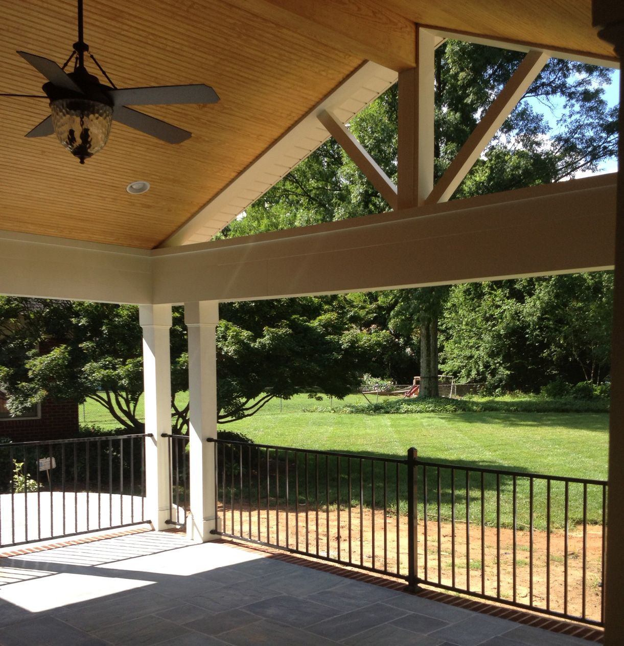 Pergola Ceiling Designs: Raleigh Covered Porch With Cathedral Ceiling