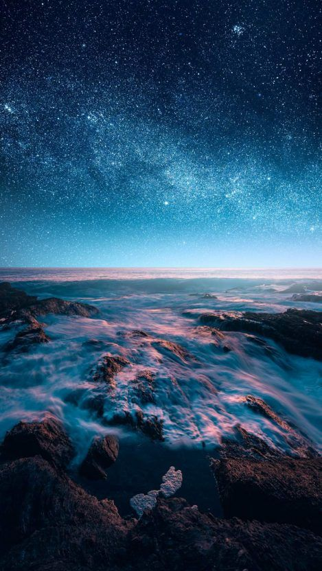 Galaxy-View-from-Earth-in-Night-iPhone-Wallpaper - iPhone Wallpapers