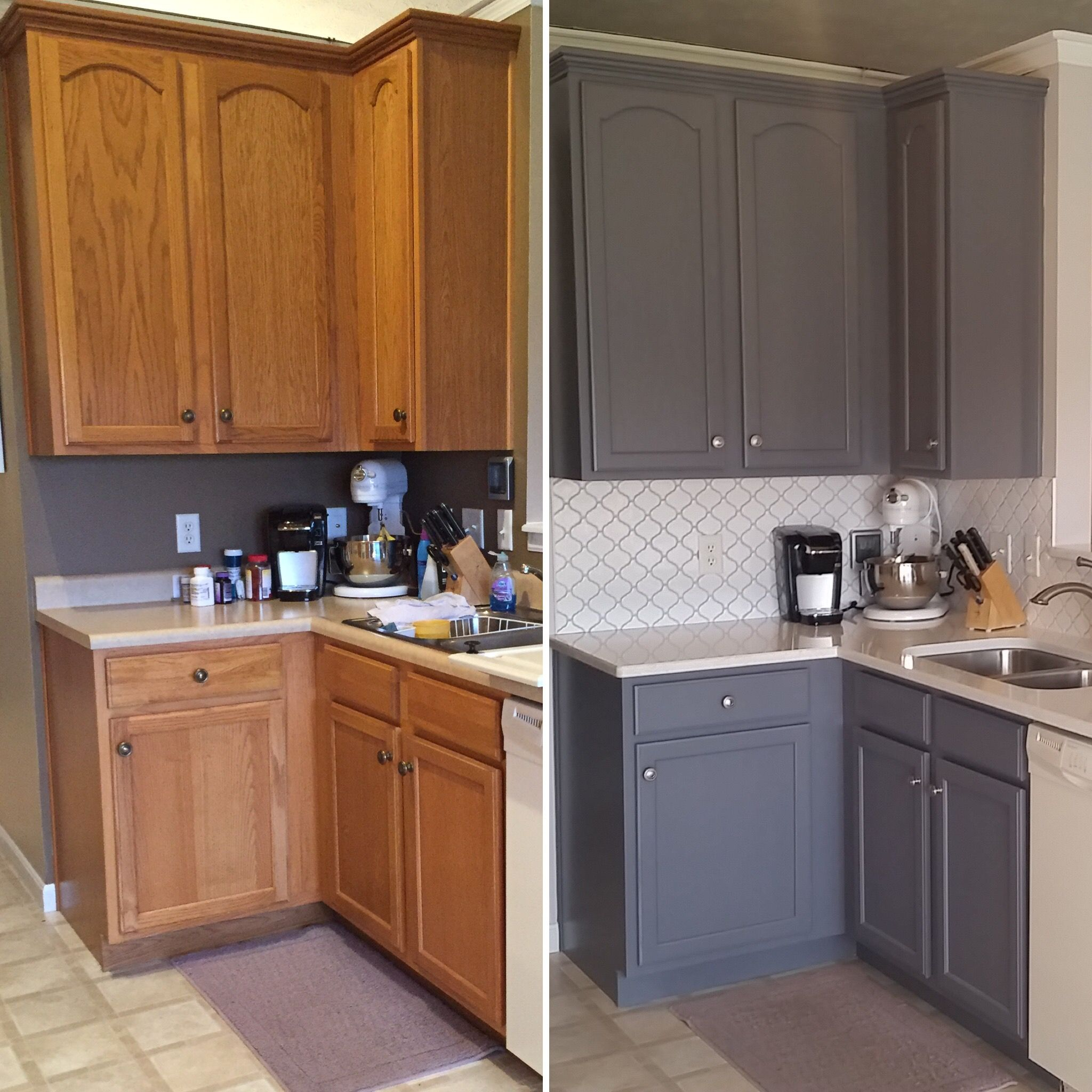 Updated Oak Kitchens Kitchen Cabinets Before And After Old