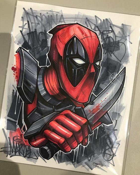fde65a99dfb ▷▷ Deadpool tattoo [historia] | Tatuajes de superhéroes | Dibujos ...