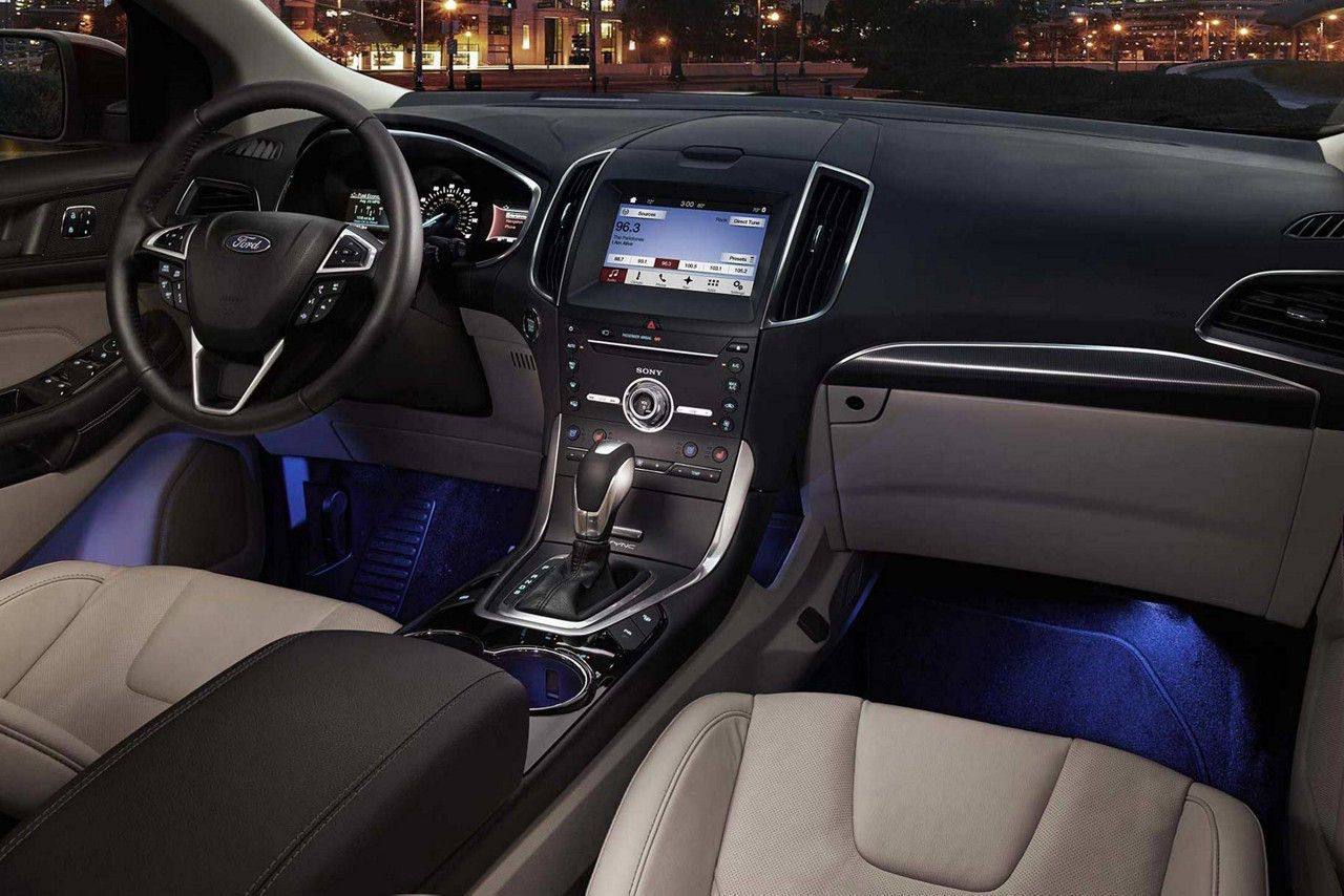 2018 Edge Titanium Interior With Ambient Lighting Ford Edge