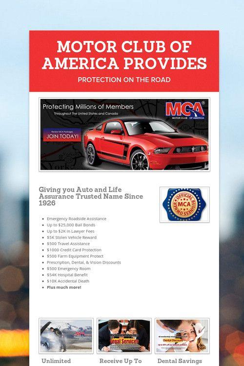 MOTOR CLUB OF AMERICA PROVIDES