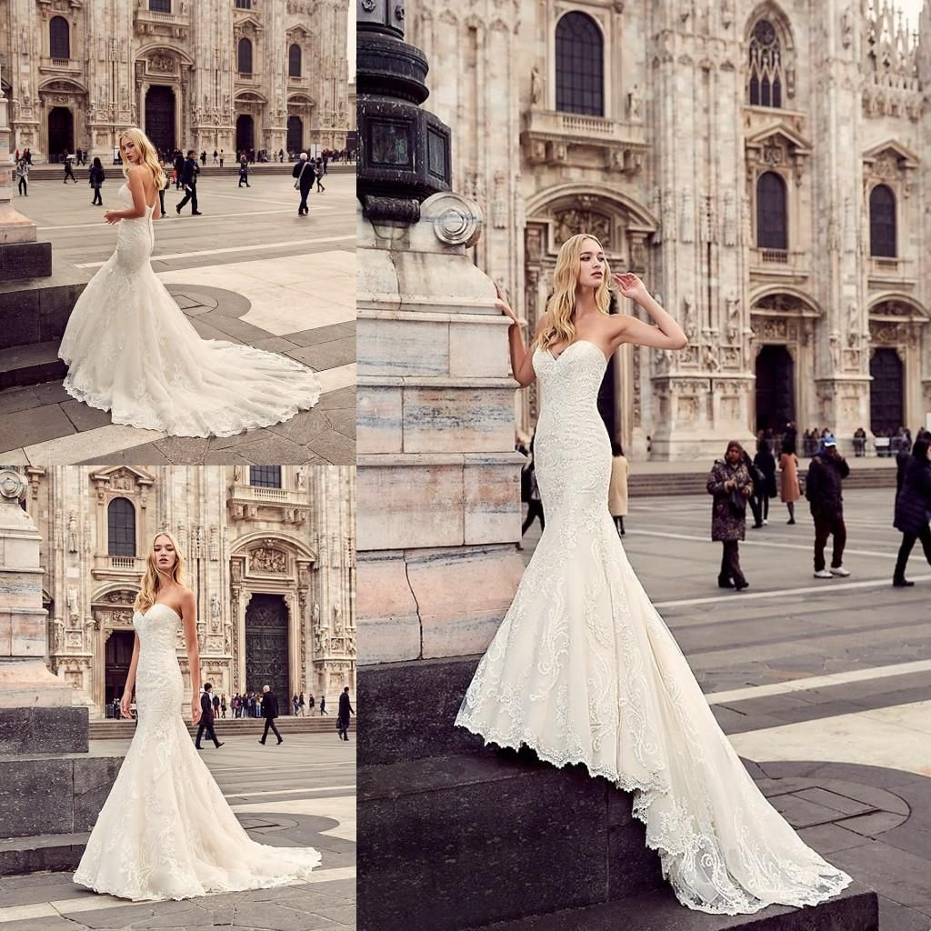 New Arrival 2017 Romantic Sweetheart Wedding Dresses Lace