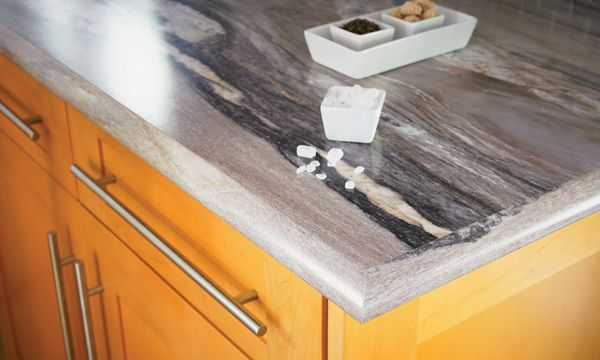 Formica Dolce Vita With Light Stain On Cabinet Island